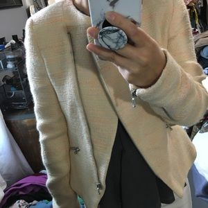 Zara blazer Yellow Fitted Warm Patterned